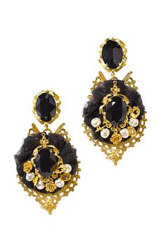 Shop the Trend: The BAZAAR Gold Standard - Dolce & Gabbana earrings