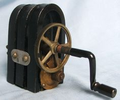 Antique 3 Bar Magneto Hand Crank Generator for Antique Phone $25