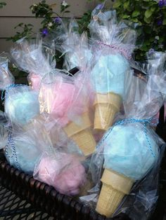 Cotton Candy Cones: huge hit at our bake sale! Would make fun party favors too. Cotton Candy Cones: huge hit at our bake sale! Would make fun party favors too. Unicorn Birthday Parties, Birthday Fun, Party Favors For Kids Birthday, Ice Cream Party Favors Kids, Party Themes For Kids, Carnival Party Favors, Circus Birthday, Candy Theme Birthday Party, 10th Birthday