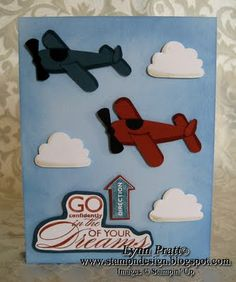 Airplane Punch Art Card - FREE Tutorial