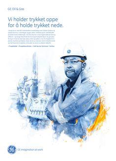 GE Oil & Gas by Peter Jaworowski, via Behance