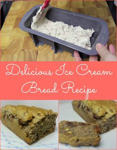 Ice Cream Bread - just two ingredients, ice cream and flour!
