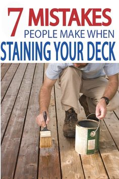 7 Mistakes People Make When Staining their Deck - Painted Furniture Ideas A great looking deck doesn't come easily, but we are here to make sure you don't make any of th Deck Furniture, Quality Furniture, Painted Furniture, Furniture Ideas, Cool Deck, Diy Deck, Deck Patio, Backyard, Behr