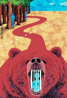 Boris Séméniako - Illustration pour le Monde - L'affaire Eston Kohver