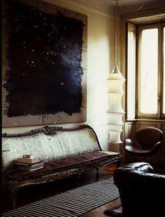 Beautiful, moody interior.