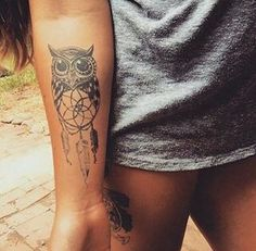owl tattoo idea #ink #girly #YouQueen #tattoos