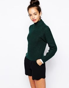 Enlarge New Look High Neck Ribbed Sweater
