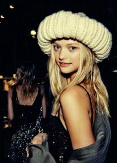 Someone so pretty, they make you smile. The doll-like model, Gemma Ward