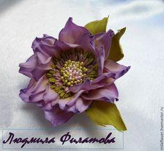 брошь -цветок из фоамирана Nord - сиреневый,сиреневый цветок,сиреневая брошь