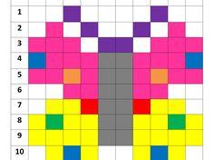 Miniatura z podglądem elementu na Dysku Fuse Bead Patterns, Perler Patterns, Beading Patterns, Tiny Cross Stitch, Cross Stitch Flowers, Barn Quilt Designs, Quilting Designs, Pixel Art, Free Printable Puzzles