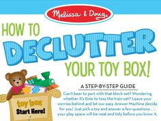 Ready to de-clutter your children's toy shelf or toy box? Not sure where to begin? Use our handy-dandy infographic (see below) to make the process a SNAP! Step #1: Pick out a toy. Step #2: Ask your…