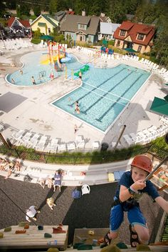 Pool and climbing wall - Summer Fun & Mountain Activities | Crystal Mountain Michigan