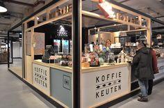Vershal Het Veem Eindhoven: Koffie Keuten Kiosk Design, Cafe Design, Booth Design, Retail Design, Restaurant Interior Design, Cafe Interior, Drive Thru Coffee, Food Court Design, Mini Cafe
