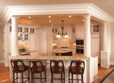 Kitchens With Columns islands with pillars | kitchen island with columns and arch