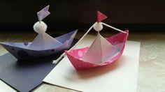 Origami Boot Karte