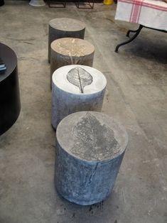 leaf print stools by misty