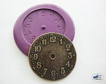 Clockface Mold 2 - Silicone Mold- Steampunk - Polymer Clay Resin Fondant Soap Wax Candy