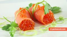 How to Make Salmon Rolls with Red Caviar   Romantic Dinner Recipes   Genius cook - Healthy Nutrition, Tasty Food, Simple Recipes