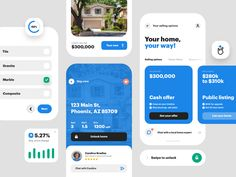 UI bits by Nicolas Solerieu for Opendoor Design on Dribbble 6 Years, Home Values, No Time For Me, Granite, Public, Tours, Mobile App, Design, Granite Counters