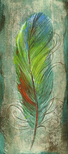 Cerulean blue and charcoal gray bird feather, large Archival Print by Jen Singh. $35.00