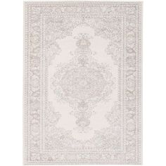 Potter Alyssa Ivory and Gray Rectangular: 5 Ft. 3-Inch x 7 Ft. 3-Inch Rug