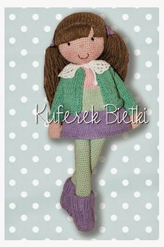 Kuferek Bietki: Meike - lalka na szydełku/ Gehäkelte Puppe/ Meike - crochet doll