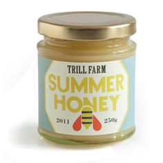 Trill Farm Summer Honey, c/o Bryson Loxley Honey Packaging, Food Packaging, Packaging Design, Sustainable Farming, Farming S, Label Design, Graphic Design, Fennel Oil, Foeniculum Vulgare