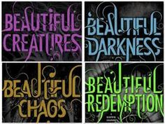 beautiful creatures book series -  good books, horrible movie, so sad!