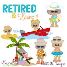 Retirement Life SVG-MTC-PNG plus JPG Cut Out Sheet(s) Our sets also include clipart in these formats: PNG & JPG