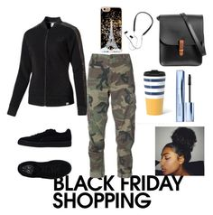 """""""Untitled #838"""" by mamatoodie-1 ❤ liked on Polyvore featuring RE/DONE, Puma, Estée Lauder, N'Damus and Polaroid"""