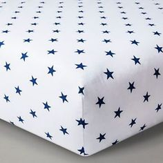 Circo™ Woven Fitted Crib Sheet - Navy Stars