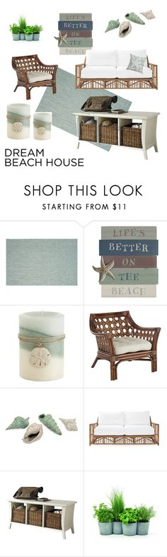 """""""Muted Beach Tones"""" by caramellkitty ❤ liked on Polyvore featuring interior, interiors, interior design, home, home decor, interior decorating, Safavieh, Pier 1 Imports, Serena & Lily and Crosley Radio & Furniture"""