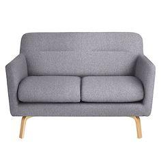 Buy John Lewis Archie Small 2 Seater Sofa, Light Leg, Saga Grey Online at johnlewis.com