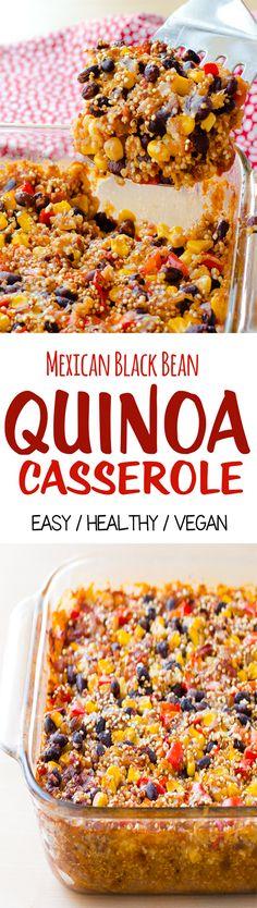 Mexican Black Bean Quinoa Casserole, a.k.a. comfort food for vegans!