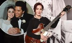 Priscilla Presley poses with Elvis' possessions in London