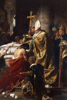 Benczúr Gyula - Baptism of Vajk (Saint Stephen)  - 1875  http://www.hung-art.hu/frames-e.html?/english/b/benczur/muvek/index.html