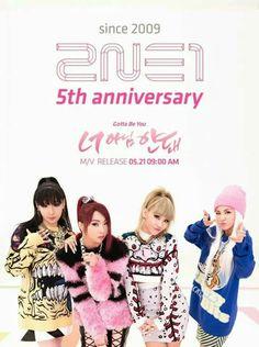 2NE1 5th anniversary !!