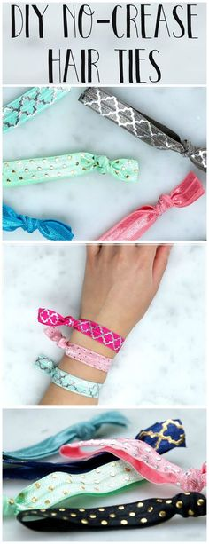 How to make no-crease hair ties.: