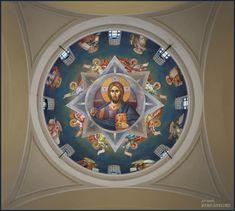 Mihail Alivizakis – icoana Byzantine Icons, Byzantine Art, Orthodox Icons, Close Image, Jesus Christ, Saints, My Arts, Scene, Fresco