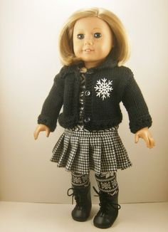 Fits 18 Inch Dolls Winter Snowflake Set of Hand by dressurdolly2, $34.00
