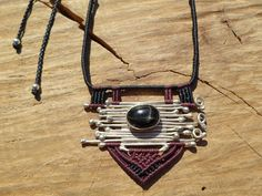 black star diopside necklace,macrame stone necklace with solid sterling silver and adjustable length,womans necklace,boho jewelry,ethnic by ARTEAMANOetsy on Etsy Macrame Necklace, Macrame Jewelry, Stone Necklace, Boho Jewelry, Black Star, Stars, Sterling Silver, Purple, Ethnic