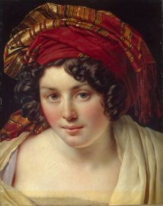 Head of a Woman in a Turban (c.1820).Anne-Louis Girodet de Roussy-Trioson (French, 1767-1824). Oil on canvas.Hermitage Museum. With its c...