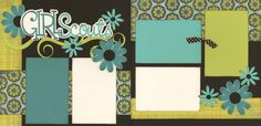 Girl Scouts scrapbook layout... I like the layout... Could be used for lots of things!