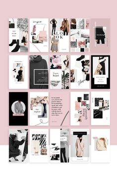 Social Media Collection / Templates by Design Love Shop on Creative Market Mise En Page Portfolio, Portfolio Design, Fashion Portfolio Layout, Portfolio Ideas, Graphisches Design, Book Design, Design Ideas, Creative Market, Keynote Presentation