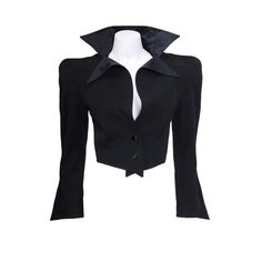 Early Thierry Mugler Gold Label Jacket   From a collection of rare vintage jackets at https://www.1stdibs.com/fashion/clothing/jackets/