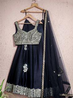 Gold Lehenga, Raw Silk Lehenga, Silk Dupatta, Mirror Work Lehenga, Desi Wedding, Wedding Decor, Blue Mirrors, Floral Crop Tops, Embroidered Blouse