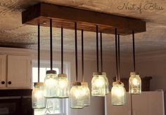Build it: DIY Mason Jar Chandelier from Nest of Bliss! #mason #diy - https://www.facebook.com/different.solutions.page