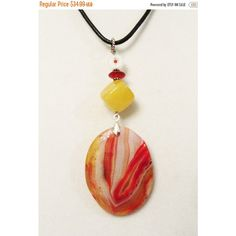 SALE Onyx Agate Jewelry, Onyx Agate, Jade, Carnelian Handmade Pendant... ($24) ❤ liked on Polyvore featuring jewelry, oval pendant necklace, boho jewelry, gemstone pendant necklace, red pendant necklace and long pendant necklaces