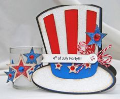 Patriotic Party Invite & Patio Votive