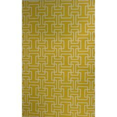 Hand-tufted from wool, this gorgeous rug showcases an abstract pattern. With its rich tones of yellow this gorgeous rug is sure to create a sophisticated look.